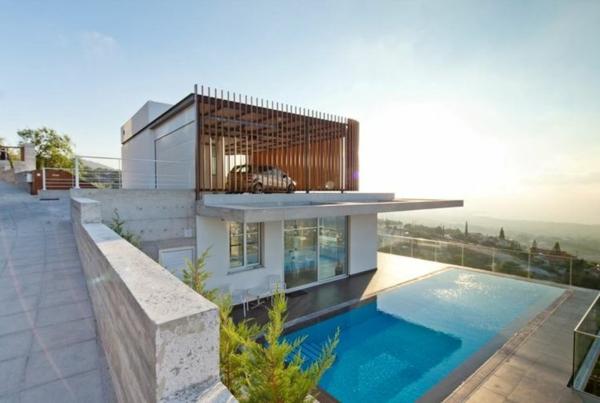 moderne hauser mit pool. Black Bedroom Furniture Sets. Home Design Ideas