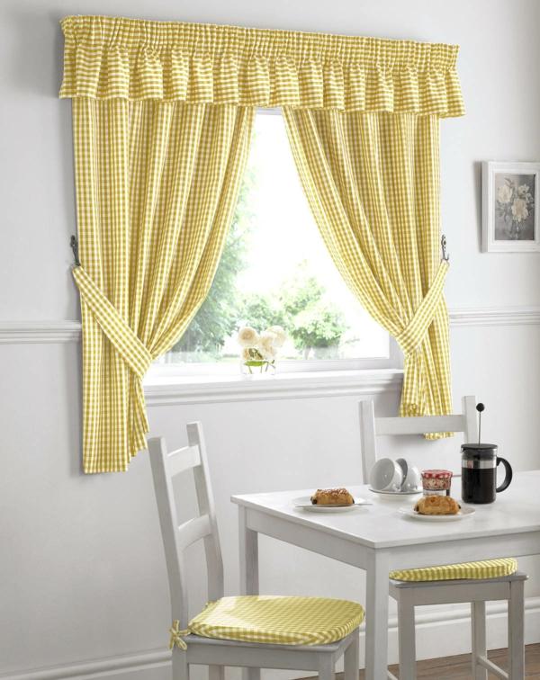 moderne-gardinen-günstig-günstige-gardinen-küche-gelb