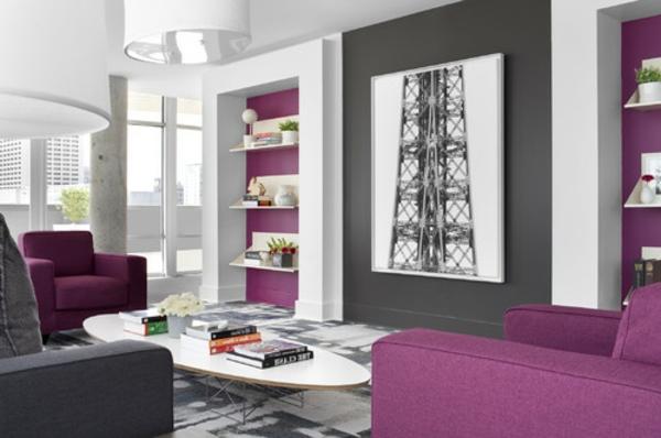 40 Herrliche Zimmerdesigns In Orchidee Farbe