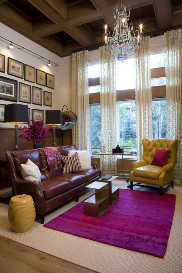 40 herrliche zimmerdesigns in orchidee farbe. Black Bedroom Furniture Sets. Home Design Ideas