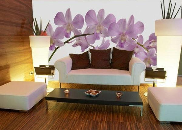 orchidee-farbe-wunderschöne-wandhgestaltung