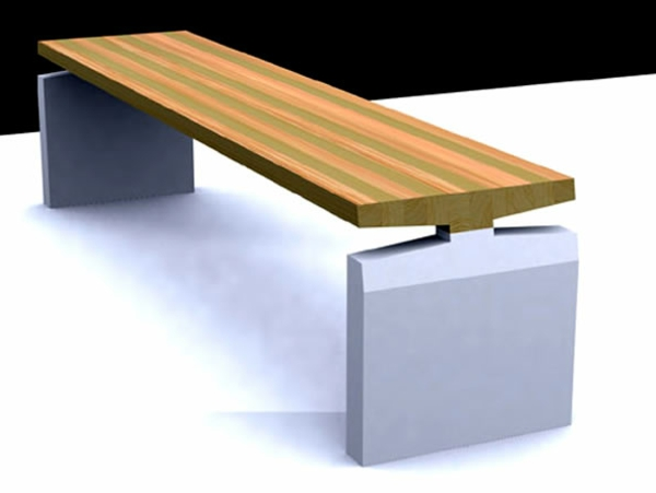 moderne holzsitzbank haus design und m bel ideen. Black Bedroom Furniture Sets. Home Design Ideas