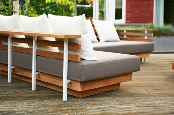 Moderne und attraktive Terrassenmöbel! -> Ecksofa Terracotta