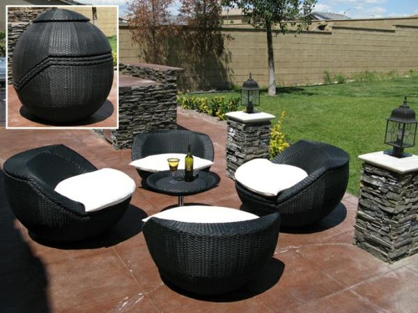 originelle-terrassenmöbel-schwarz-und-weiß