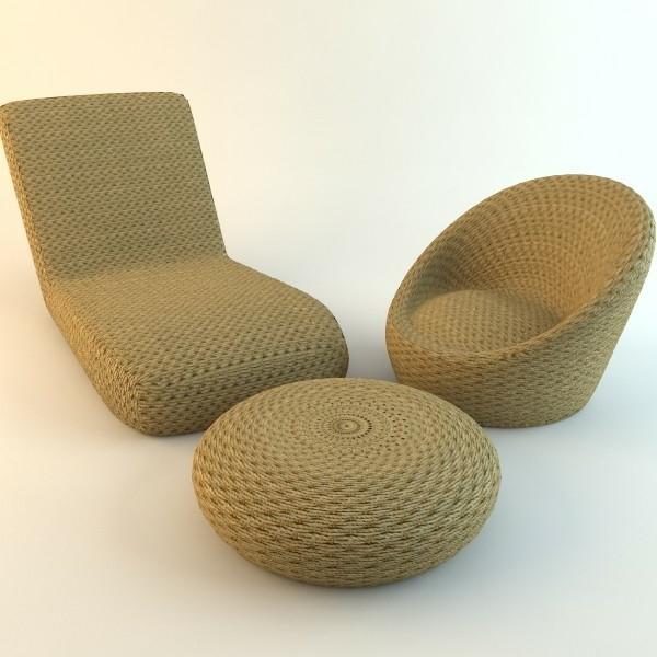 der rattan hocker wirkt modern und sch n. Black Bedroom Furniture Sets. Home Design Ideas