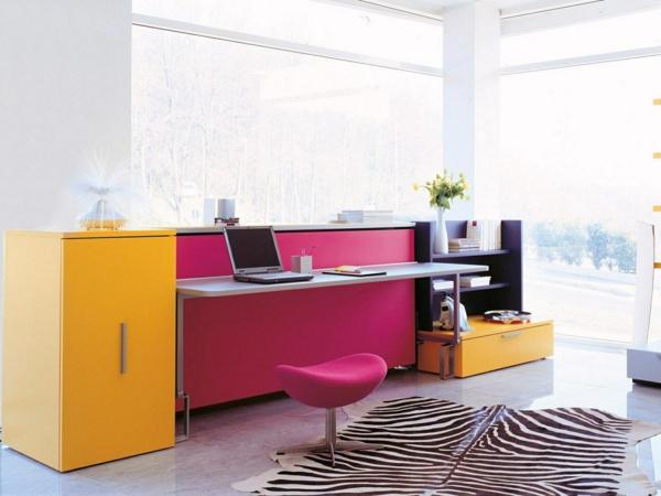 schreibtisch-hocker-rosig-und-gelb