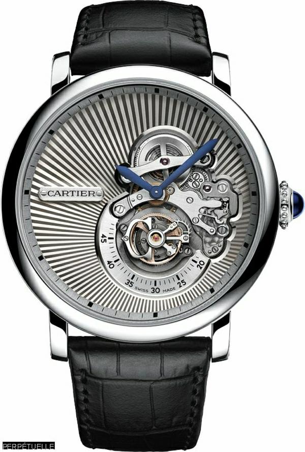 schwarze-leder- armbanduhr-herren-schönes-modell-
