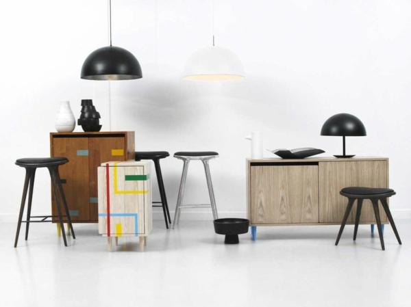 skandinavisches-möbel-schwarze-lampen