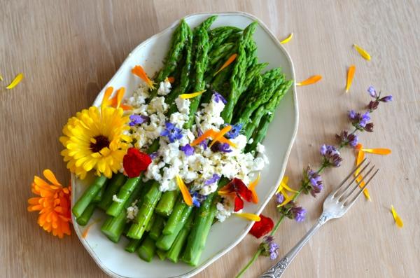 spargelsalat-speisen-deko-floral-blumen-essen-