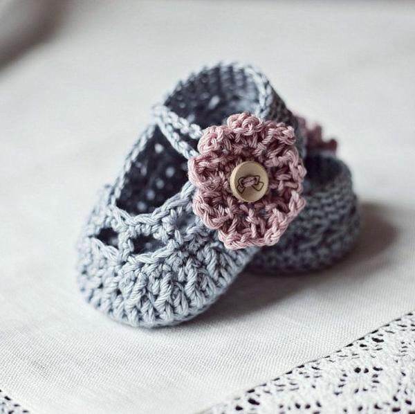 Blume Häk Babysocken Häkeln Daniel Stern