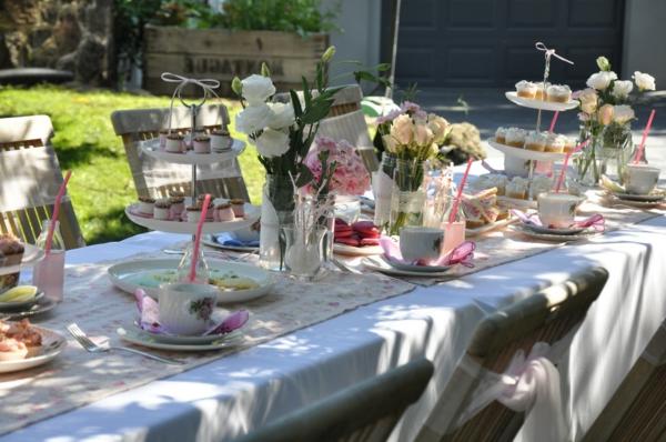 Fantastische Tischdeko F R Gartenparty