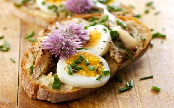 toast-mit-gekochtem-ei-und-kleeblüten
