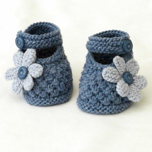 tolles-design-häkeln-babyschuhe-fantastische-ideen-für-häkeleien-babyschuhe-mit-blumen-häkeln--gänseblümchen