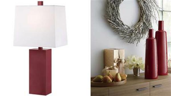 trend  farbe-marsala-lampe-vasen-ein sehr schönes und süßes bild