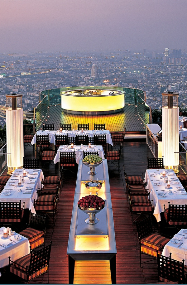 63rd floor restaurant, Iebua at State Tower, Bangkok