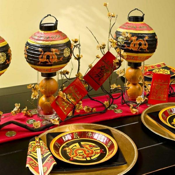 Chinesisches-Neujahr-Dekoration