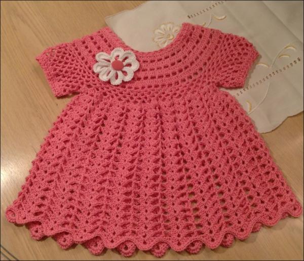 Crochet-Summer-Baby-Dress-Light-Orange