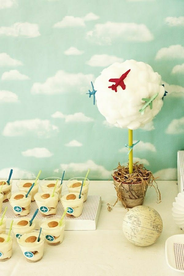 Flughafen-themenorientiertes-Geburtstagsfeier