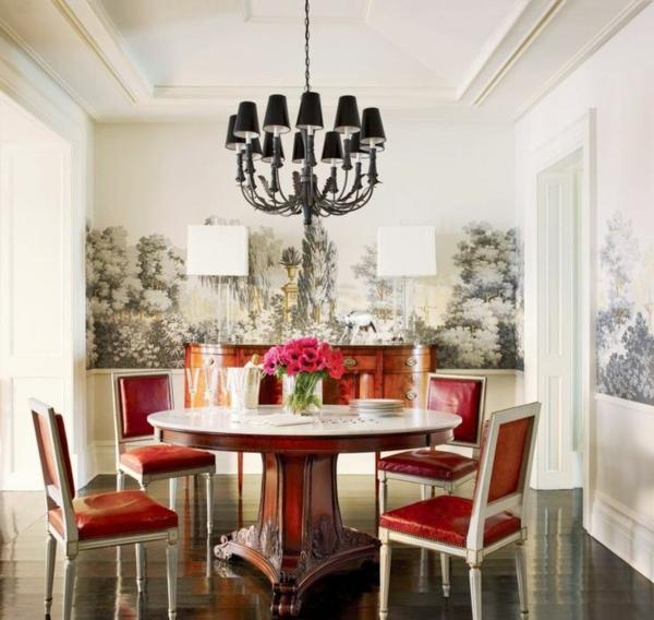 schwarze tisch rote st hle m belideen. Black Bedroom Furniture Sets. Home Design Ideas
