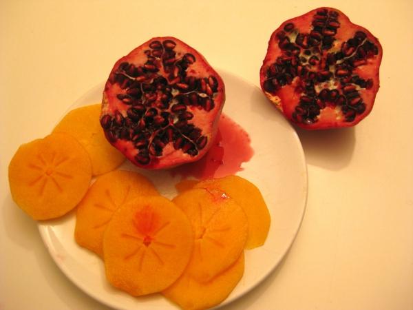 Kaki-Frucht