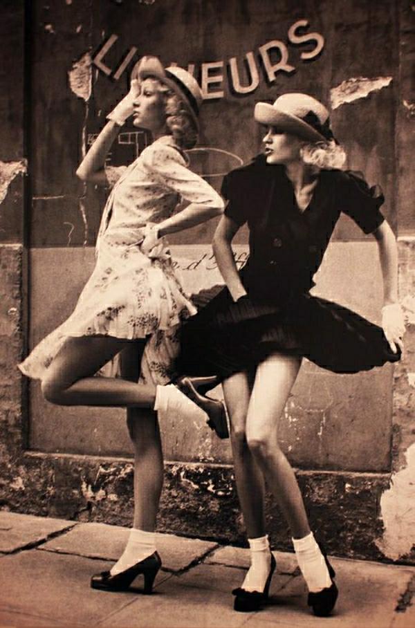 Mädchen-Swing-Rockabilly-Kleider-Vintage-Look