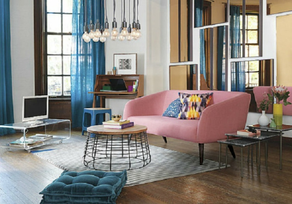 wohnzimmer trends 2015:Süße-Farben-sehen-extravagant-im-Wohnzimmer-aus