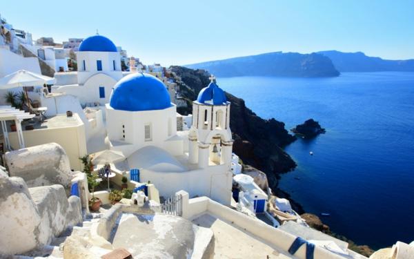 Santorini-Griechenland-Sicht-von-oben