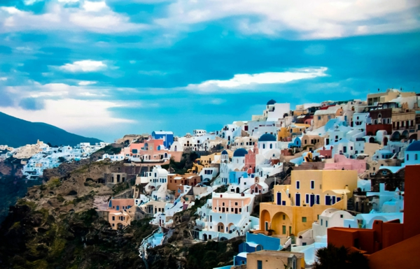 Santorini-Sicht