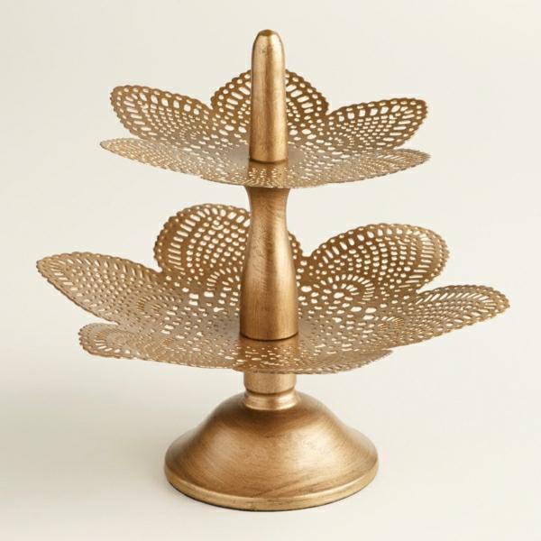 Ständer-golden-Blumen-Dekoration