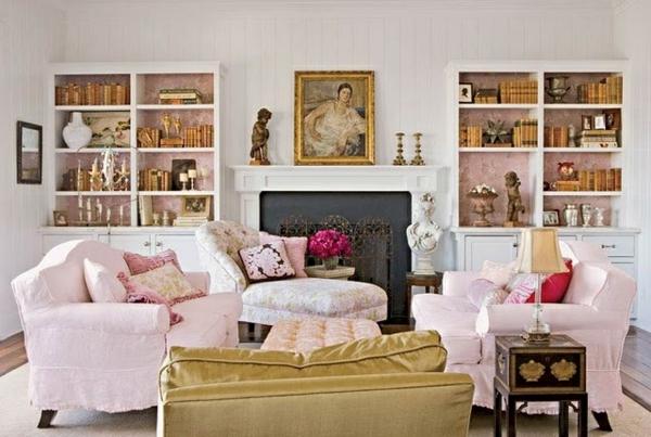Sessel-und-Wände-in-Rosa