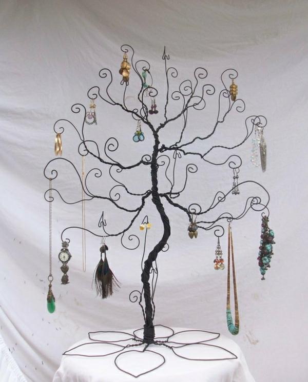 Ständer-Schmuck-Draht-Haken-Baum-Ästen-Halskette-Armreif-Orringe