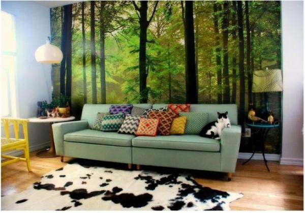 40 Ideen Mit Fototapete Wald Lassen Sie Die Natur Ins Haus