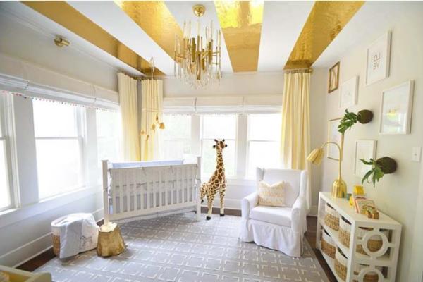 Weiß-goldene-Kombination-fürs-Kinderzimmer