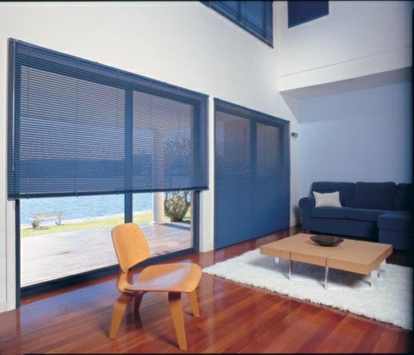 aluminium jalousien im gemtlichen wohnzimmer - Jalousie Wohnzimmer