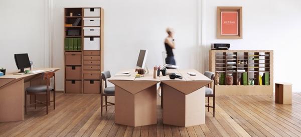 Büro einrichtungsideen  Möbel aus Pappe - 75 originelle Vorschläge! - Archzine.net