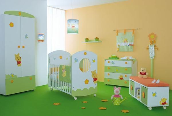 babyzimmer-gestaltung-babyzimmer-komplett-babyzimmer-einrichten-grün-gelb Babyzimmer gestalten