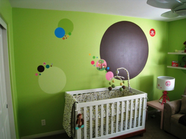 babyzimmer orange grn m belideen. Black Bedroom Furniture Sets. Home Design Ideas