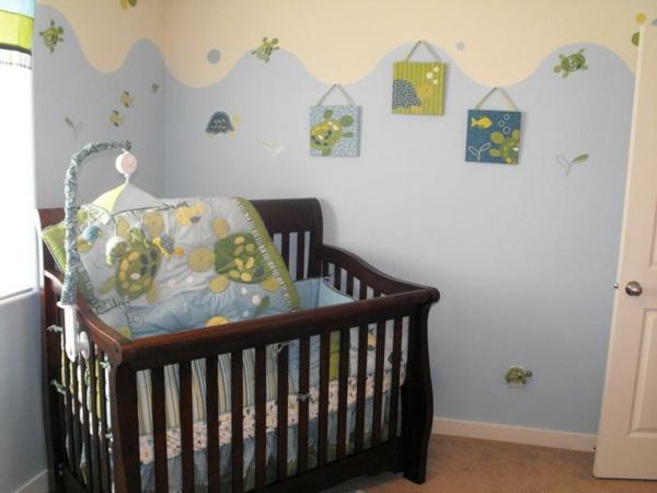 Babyzimmer junge grün  Babyzimmer Wandgestaltung Junge Grun ~ speyeder.net = Verschiedene ...