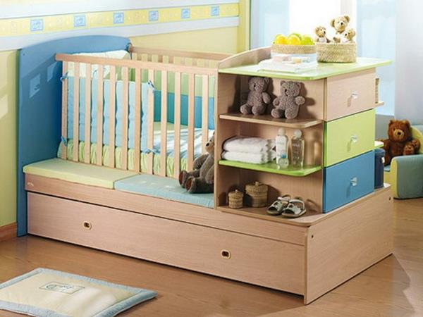... Junge : babyzimmer-junge-super-babybett-mit-vielen-schubladen-und