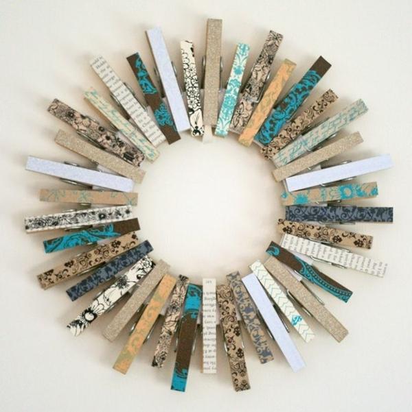 Vintage deko selber machen  Basteln mit Wäscheklammern - 54 kreative Vorschläge! - Archzine.net