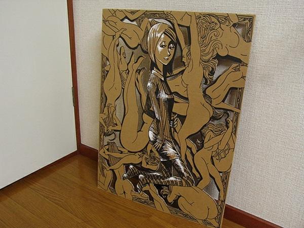 basteln-mit-karton-dekoration-für-zuhause