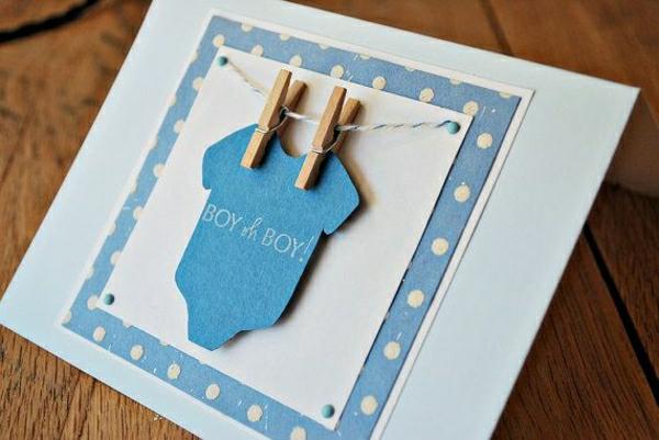 grußkarten-geburt-baby-grußkarten-basteln-mit-papier-karten-selber-machen-diy-karten-basteln-schöne-originelle-ideen-babyboy