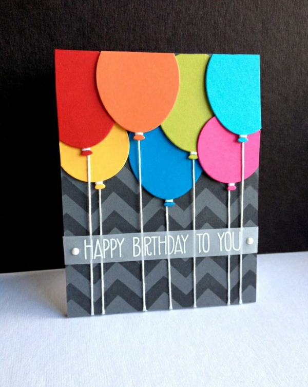 basteln-mit-papier-karten-selber-machen-diy-karten-basteln-schöne-originelle-ideen-ballons