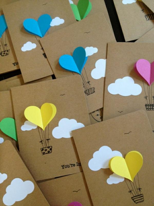 basteln-mit-papier-karten-selber-machen-diy-karten-basteln-schöne-originelle-ideen