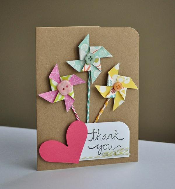 --basteln-mit-papier-karten-selber-machen-diy-karten-basteln-schöne-originelle-ideen Karten selber basteln