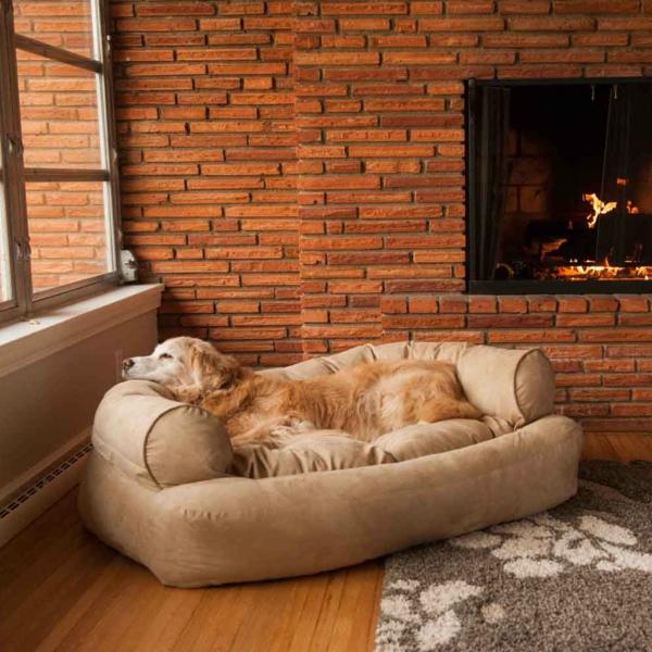 hundesofa-beige-hundekissen -hundebett-design-sofa-für-ihren-hund-schöne-hundeaccessoires-