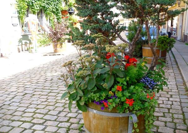 blumendeko-blumendekoration-straßendeko_ideen-für-einen-schönen-pflanzkübel-