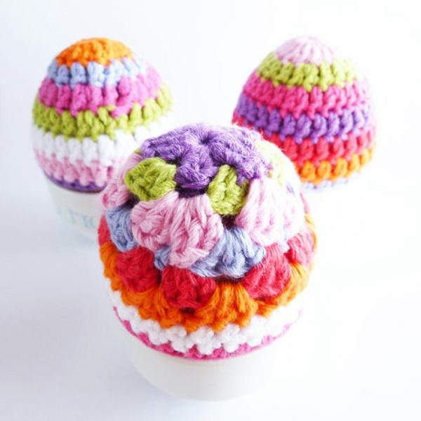 bunte--eierwärmer -ideen-häkeln-wunderschöne-kreative-häkeleien -häkeln-lernen