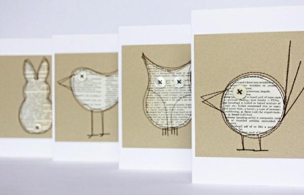 coole-ideen-basteln-mit-papier-karten-selber-machen-diy-karten-basteln-schöne-originelle-ideen
