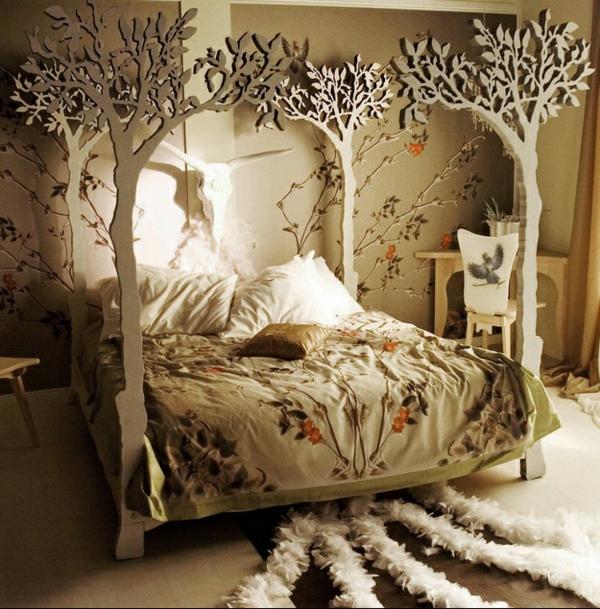 Holz Tapete Im Schlafzimmer ? Reiquest.com Schlafzimmer Deko Holz